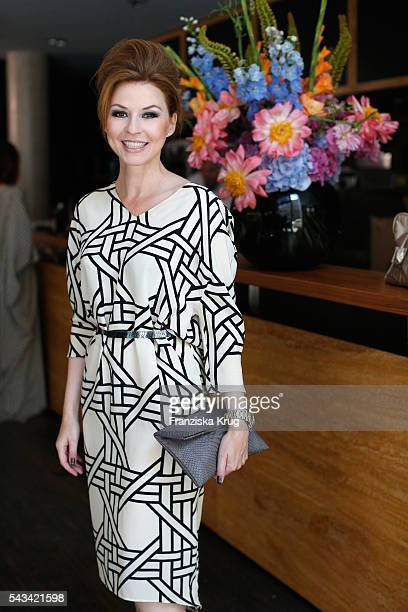 Hendrikje Kopp attends the Dawid Tomaszewski show during the MercedesBenz Fashion Week Berlin Spring/Summer 2017 at Stage at me Collectors Room on...