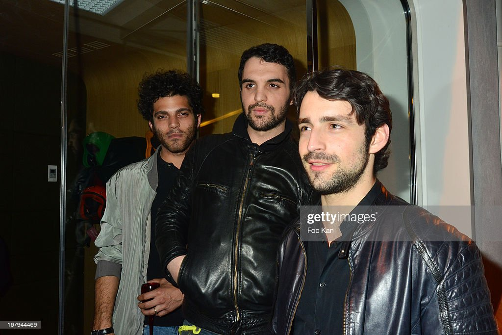 Heneine Vincent, Foed Amara and Gray Orsatelli attend the Sam Bobino DJ Set Party At The Hotel O y on April 25, 2013 in Paris, France.
