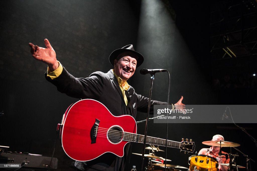Henk Hofstede of the Nits performs at Cafe De La Danse on November 29, 2012 in Paris, France.