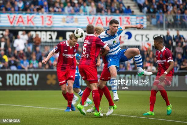 Henk Veerman of sc Heerenveen Stijn Schaars of sc Heerenveen Danny Holla of PEC Zwolle Jeremiah St Juste of sc Heerenveenduring the Dutch Eredivisie...