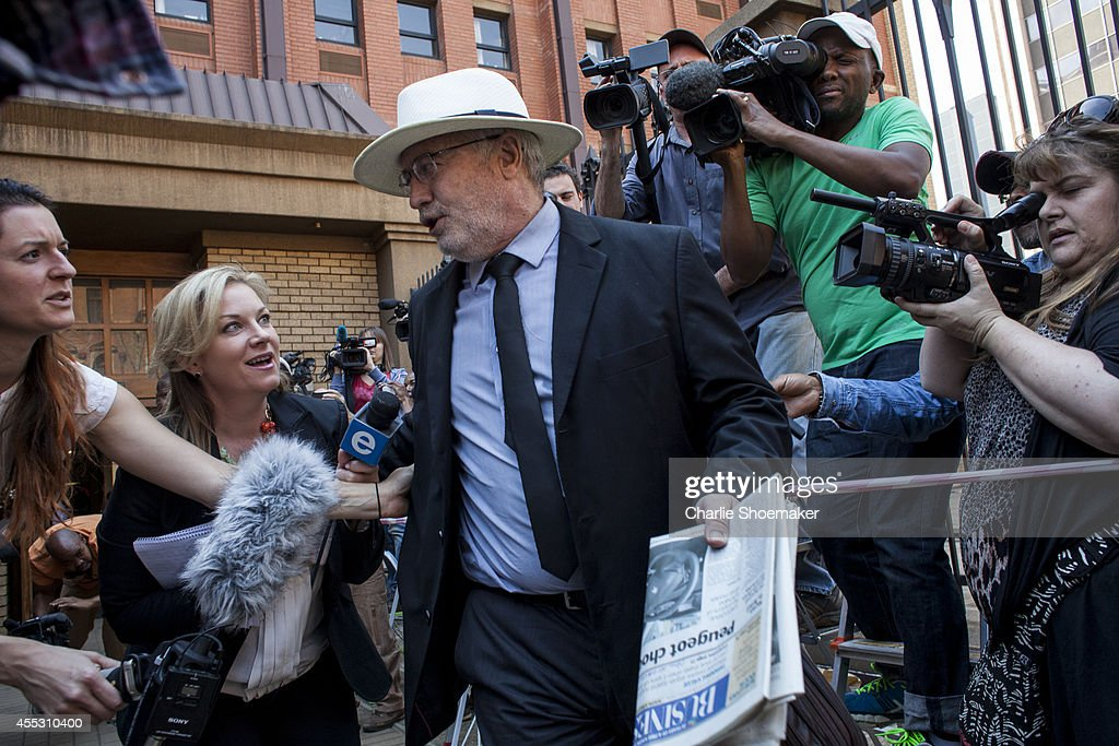 Henke Pistorius the father of Oscar Pistorius leaves the North Gauteng High Court on September 12 2014 in Pretoria South Africa South African Judge...