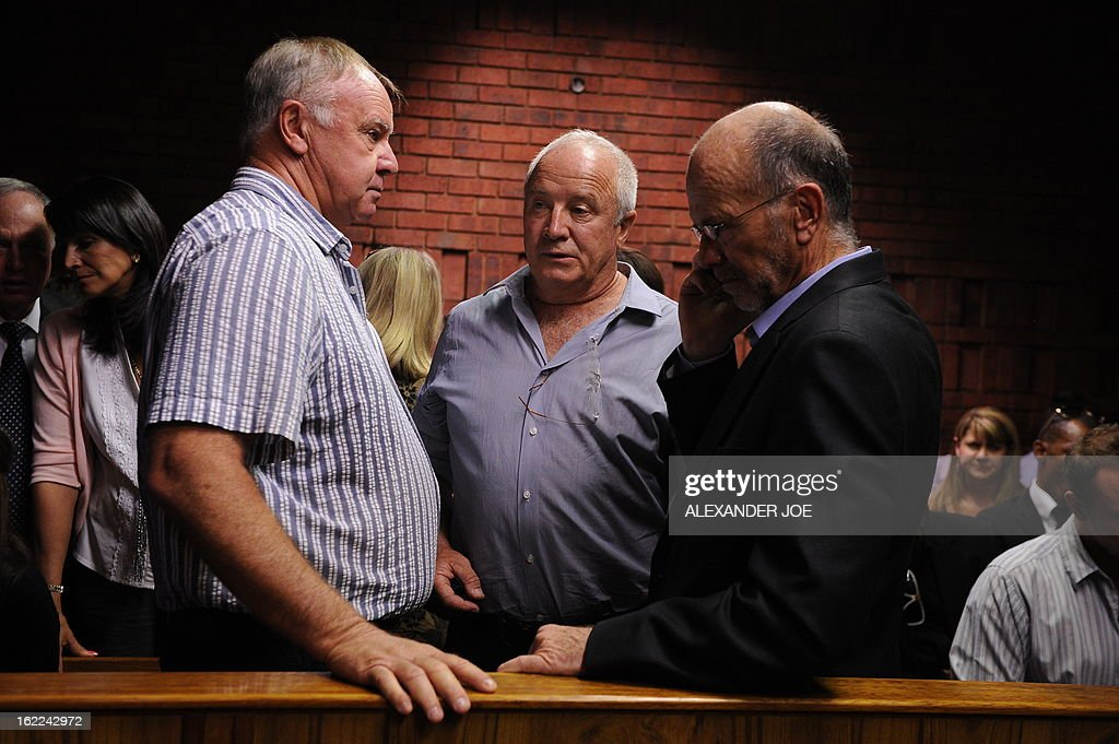 Henke the father of South African Olympic sprinter Oscar Pistorius is pictured on February 21 2013 at the Magistrate Court in Pretoria Oscar...