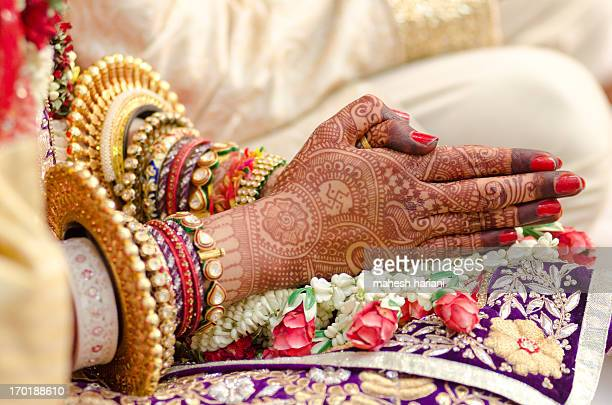 Henna and bridal jewelry, wedding, India