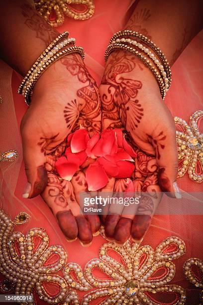Henna and rose petals