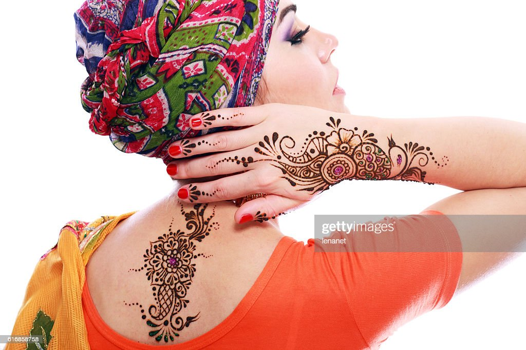 henna being applied : Stock Photo