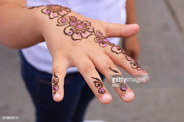 Henna on a girl's hand