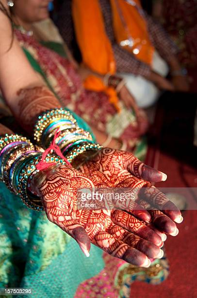 Henna on an Indian bride's hand