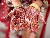 Asian bridal henna.