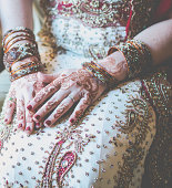 henna tattooed bride