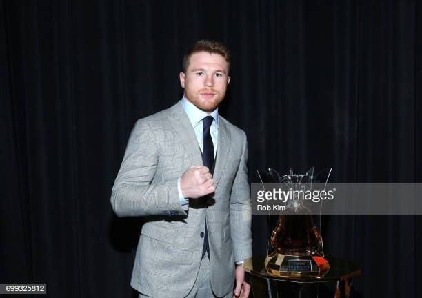 Hennessy the world's bestselling Cognac presents Lineal and RING Magazine Middleweight World Champion Canelo Alvarez with a custom engraved bottle of...