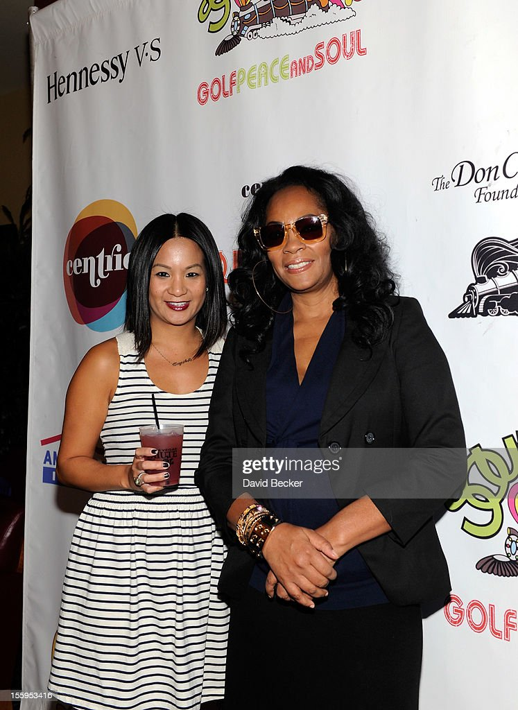 Hennessy's west coast marketing manager Thuy-Anh Nguyen (L) and singer <a gi-track='captionPersonalityLinkClicked' href=/galleries/search?phrase=Jody+Watley&family=editorial&specificpeople=1186444 ng-click='$event.stopPropagation()'>Jody Watley</a> attend the first annual Soul Train Celebrity Golf Invitational presented by Hennessy at the Las Vegas Paiute Golf Resort on November 9, 2012 in Las Vegas, Nevada.