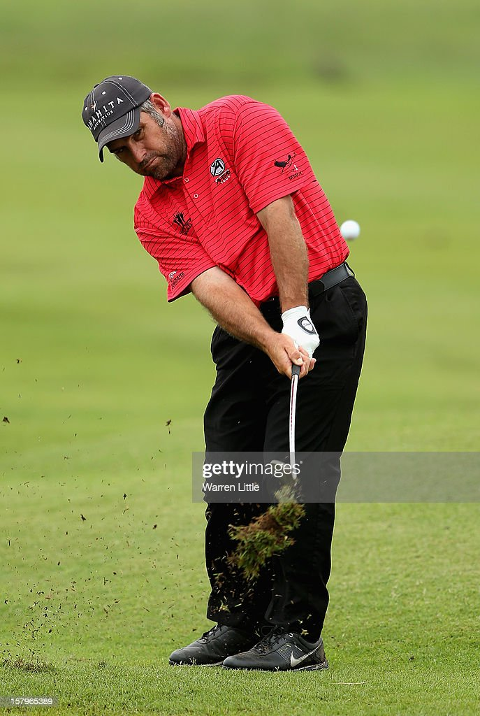 Hennie Otto of South Africa in action during the first round of The Nelson Mandela Championship presented by ISPS Handa at Royal Durban Golf Club on December 8, 2012 in Durban, South Africa.