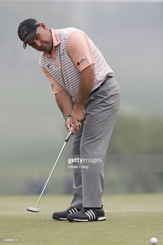<a gi-track='captionPersonalityLinkClicked' href=/galleries/search?phrase=Hennie+Otto&family=editorial&specificpeople=234621 ng-click='$event.stopPropagation()'>Hennie Otto</a> of South Africa plays a shot during the second round of the Volvo China open at Topwin Golf and Country Club on April 28, 2016 in Beijing, China.