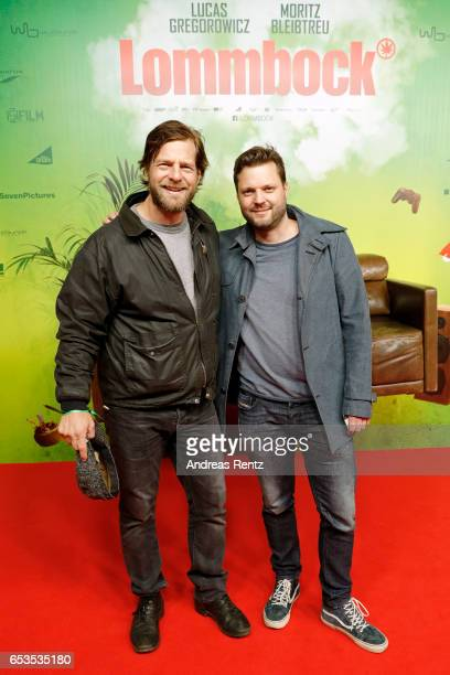 Henning Baum and guest attend the premiere of the film 'Lommbock' at Cinedom on March 14 2017 in Cologne Germany