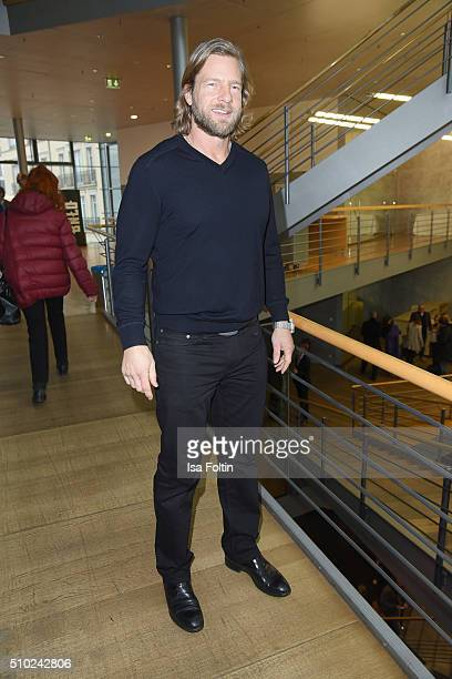 Henning Baum attends the FairPlay Party on February 14 2016 in Berlin Germany