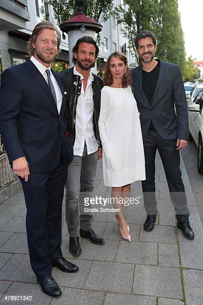 Henning Baum Stephan Luca Nadeshda Brennicke Pasquale Aleardi during the Peugeot BVC Castingnight Summer 2015 at Kaeferschaenke on June 28 2015 in...