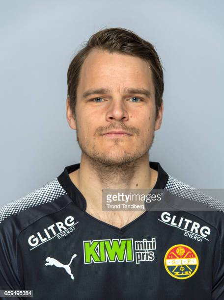 Henning Hauger of Team Stromsgodset Fotballklubb during Photocall on March 17 2017 in Drammen Norway