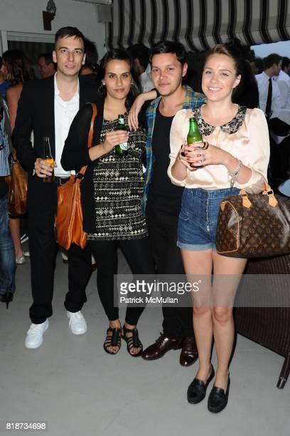 Henning Kober Robert Lang Leila Jarmin and Gabi Bassett attend Bret Easton Ellis to celebrate the publication of his new novel IMPERIAL BEDROOMS at...