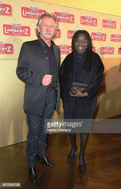 Henning Krautmacher and Auma Obama during the Lambertz Monday Night 2016 at Alter Wartesaal on February 1 2016 in Cologne Germany