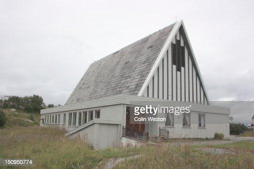 Henningsvaer Church, Lofoten, Nordland, Norway. : Stock Photo