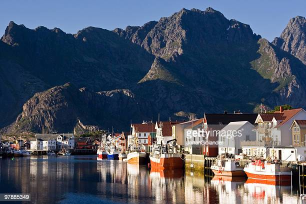 Henningsvaer Harbour in Lofoten