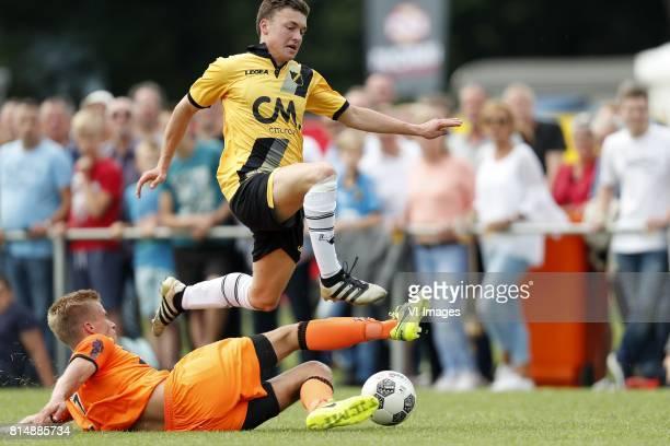 Henny Schilder of FC Volendam Diego Snepvangers of NAC Breda during the friendly match between NAC Breda and FC Volendam at Sportpark Blankershove on...