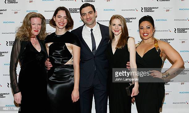 HennyRussell Rebecca Hall Morgan Spector Ashley Bell and Maria Christina Oliveras attends the Broadway opening night of 'Machinal' at American...