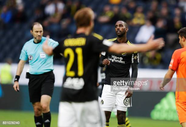 Henok Goitom of AIK dejected during the Allsvenskan match between AIK and Athletic FC Eskilstura at Friends arena on August 13 2017 in Solna Sweden
