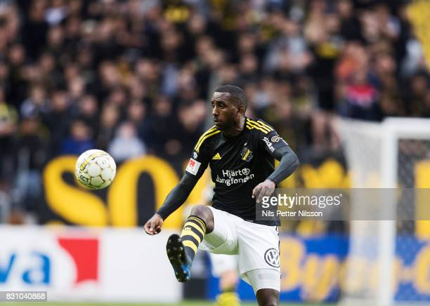 Henok Goitom of AIK during the Allsvenskan match between AIK and Athletic FC Eskilstura at Friends arena on August 13 2017 in Solna Sweden