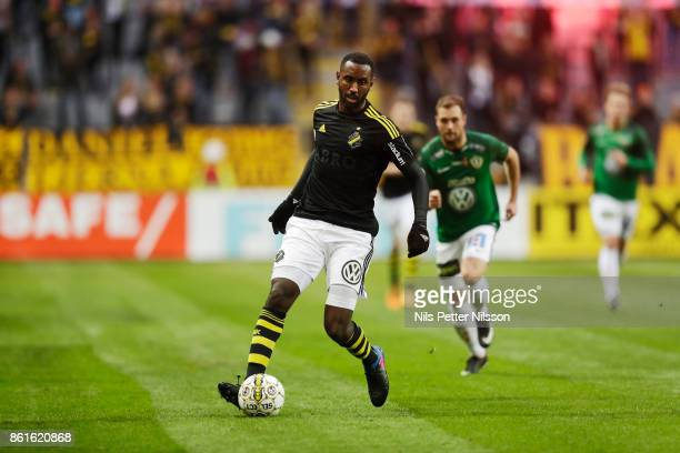 Henok Goitom of AIK during the Allsvenskan match between AIK and Jonkopings Sodra IF at Friends Arena on October 15 2017 in Solna Sweden