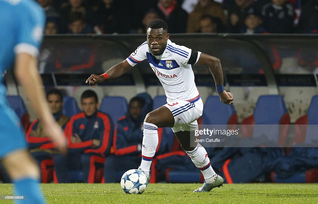 <a gi-track='captionPersonalityLinkClicked' href=/galleries/search?phrase=Henri+Bedimo&family=editorial&specificpeople=2293105 ng-click='$event.stopPropagation()'>Henri Bedimo</a> of Lyon in action during the UEFA Champions league match between Olympique Lyonnais (OL) and FC Zenit St Petersburg at Stade de Gerland on November 4, 2015 in Lyon, France.