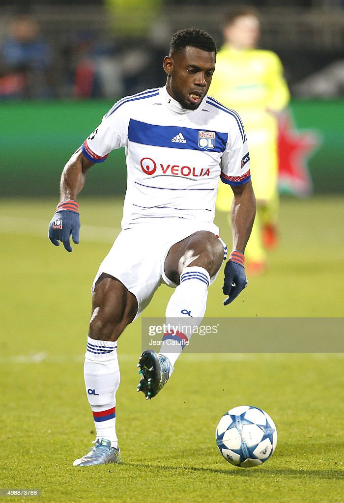 <a gi-track='captionPersonalityLinkClicked' href=/galleries/search?phrase=Henri+Bedimo&family=editorial&specificpeople=2293105 ng-click='$event.stopPropagation()'>Henri Bedimo</a> of Lyon in action during the UEFA Champions League match between Olympique Lyonnais (Lyon, OL) and KAA Gent (Ghent, La Gantoise) at Stade de Gerland on November 24, 2015 in Lyon, France.