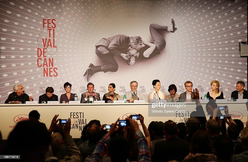 Henri Behar Cristian Mungiu Lynne Ramsay Daniel Auteuil Vidya Balan Steven Spielberg Naomi Kawase Christoph Waltz Niciole Kidman and Ang Lee attend...