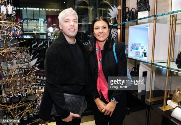 Henri Bendel Creative Director Pina Ferlisi attends the Henri Bendel Holiday Window Unveiling at Henri Bendel on November 15 2017 in New York City
