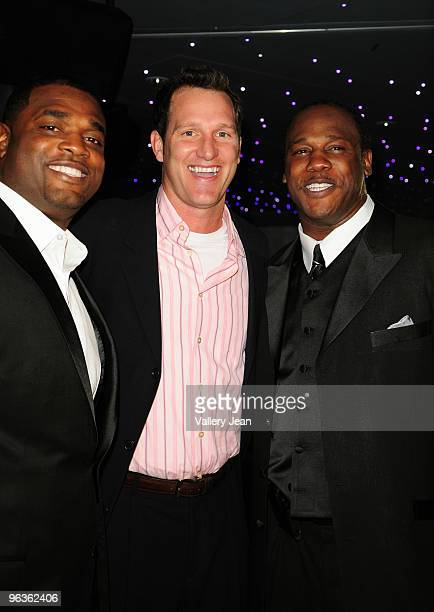 Henri Crockett Danny Kanell and Zack Crockett attend the First Annual Diamond Ball presented by The Crockett Foundation at Clevelander Hotel on...
