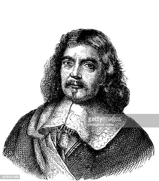 Henri de la tour d'auvergne vicomte de turenne 1555 1623 duke of bouillon and marshal of france woodcut from 1880