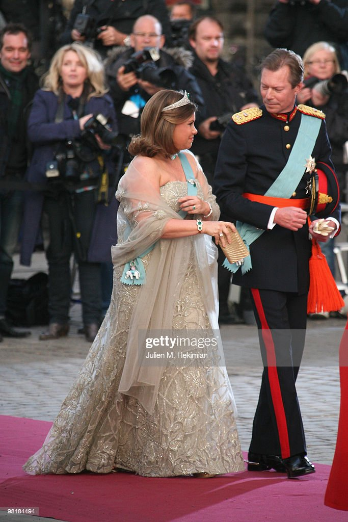 Henri de Luxembourg and his wife attend the Gala Performance in celebration of Queen Margrethe's 70th Birthday on April 15, 2010 in Copenhagen, Denmark.