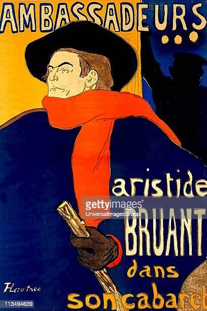 Henri de ToulouseLautrec Aristide Bruant dans son cabaret 1892 Lithographed poster