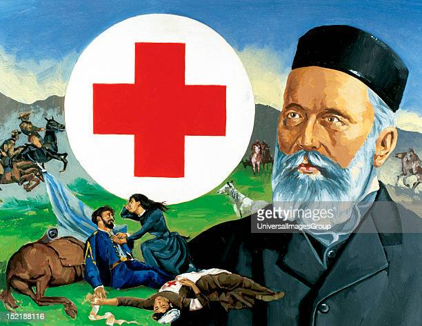 Henri Dunant Swiss philanthropist In 1863 he founded the Red Cross He was the first Nobel Peace Prize
