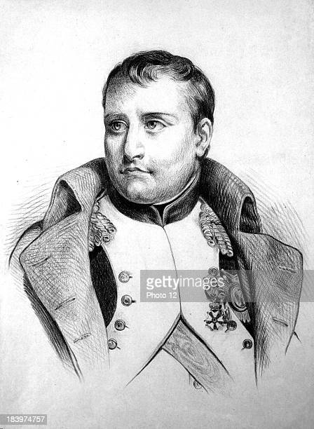 Henri Felix Emmanuel Philippoteaux Napoleon in Cavalrymen uniformGraphite