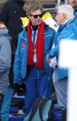 Henri Grand Duke of Luxembourg attends the Men's Skiathlon 15 km Classic 15 km Free during day two of the Sochi 2014 Winter Olympics at Laura...