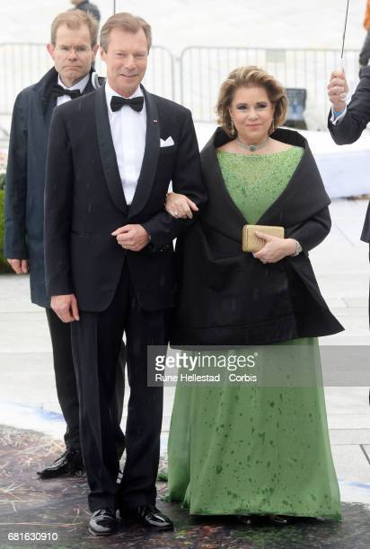 Henri Grand Duke of Luxemburg and Maria Teresa Grand Duchess of Luxemburg are seen arriving at the Opera House on the occasion of the celebration of...