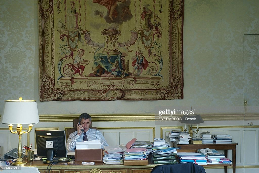 <a gi-track='captionPersonalityLinkClicked' href=/galleries/search?phrase=Henri+Guaino&family=editorial&specificpeople=4206004 ng-click='$event.stopPropagation()'>Henri Guaino</a>, special advisor to French President Nicolas Sarkozy, sits in his office the Salon Murat at the Elysee Palace in October 13, 2007 in Paris. France.