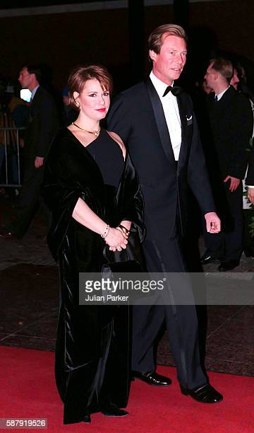 Henri Hereditary Grand Duke of Luxembourg and Maria TeresaHereditary Grand Duchess of Luxembourg attend a Ballet performance at The Muziek Theater in...
