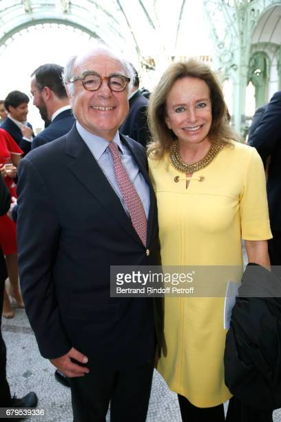 Henri JobbeDuval and Countess Eleonore de la Rochefoucauld attend the 'Revelations' Fair at Balcon d'Honneur du Grand Palais on May 5 2017 in Paris...