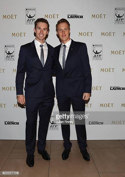 Henri Kontinen of Finland and John Peers of Australia at Cutty Sark on November 10 2016 in London England