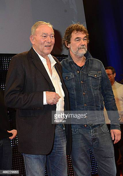 Henri Langlois Awards 2014 jury presidents directors Yves Boisset and Olivier Marchal attend the Rencontres Internationales du Cinema as part of...