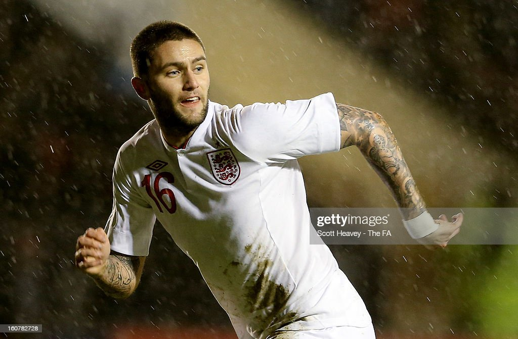 Henri Lansbury of England during the International Match between England Under 21's and Sweden Under 21's at Banks' Stadium on February 5, 2013 in Walsall, England.