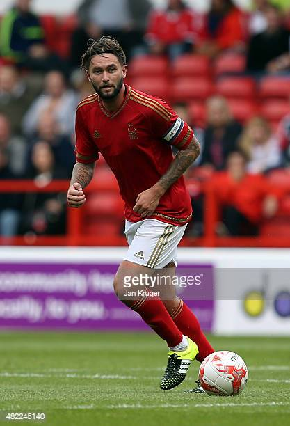 Henri Lansbury of Nottingham Forest during the pre season friendly match between Nottingham Forest and Swansea City at City Ground on July 25 2015 in...