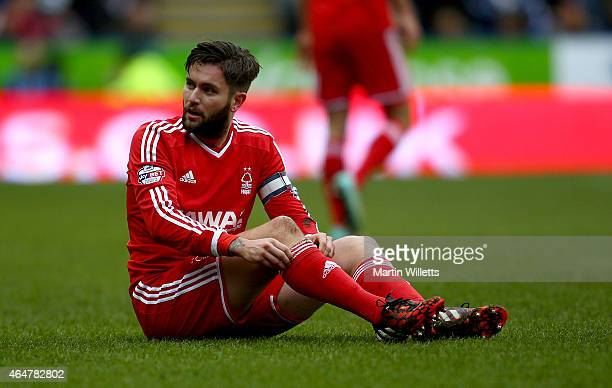 Henri Lansbury of Nottingham Forest during the Sky Bet Championship match between Reading and Nottingham Forest at Madejski Stadium on February 28...